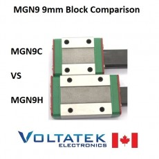 MGN9H or MGN9C 9mm Linear Bearing Block and Guide Rail Set