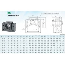 BK10 and BF10 Ball Screw End Bearing Supports for SFU1204