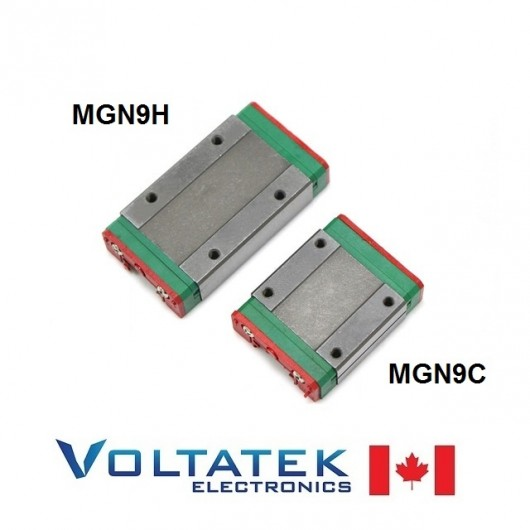 MGN9H or MGN9C 9mm Linear Bearing Block