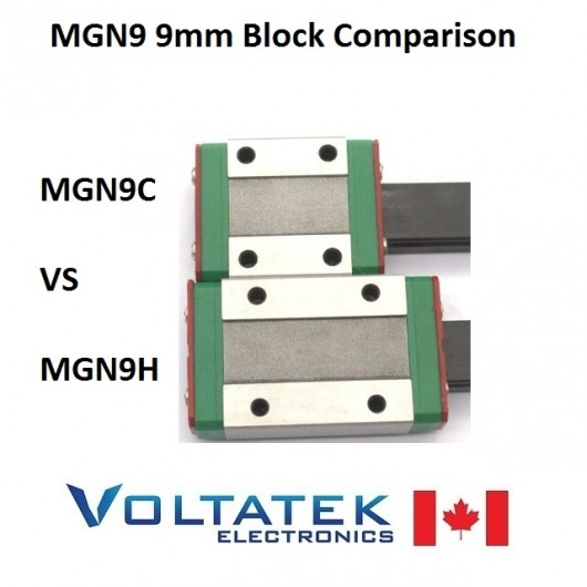 MGN9H or MGN9C 9mm Linear Bearing Block