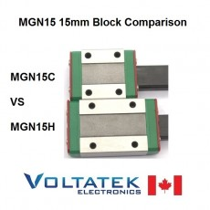 MGN15H or MGN15C 15mm Linear Bearing Block