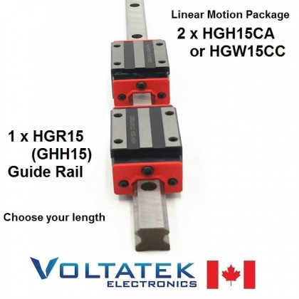 HGH15CA or HGW15CC 15mm 2x Linear Blocks and HGR15 Rail Kit