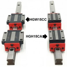 HGH15CA or HGW15CC 15mm 2x Linear Blocks and HGR15 Rail Kit