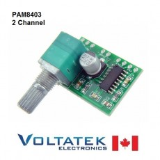 PAM8403 2 Channel 3W Audio Amplifier with Volume Control 5V
