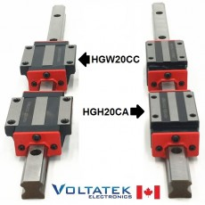 HGH20CA or HGW20CC 20mm 2x Linear Blocks and 1x HGR20 Rail Kit