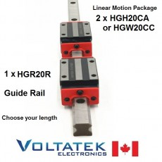 HGH20CA or HGW20CC 20mm 2x Linear Blocks and 1x HGR20R Rail Kit