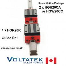 HGH20CA or HGW20CC 20mm 2x Linear Blocks and 1x HGR20R Rail Kit