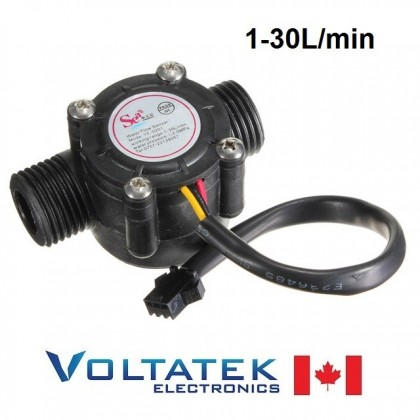 Water flow sensor Hall water control 1-30L/min