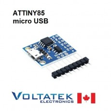 ATTINY85 small USB 8-bit 20MHz AVR Microcontroller Dev Board with Micro plug