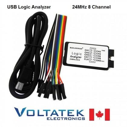 USB Logic Analyzer Debug Tool 24MHz 8 Channel