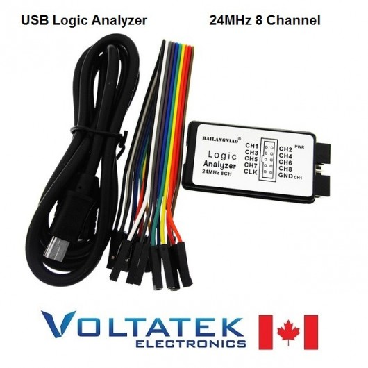 USB Logic Analyzer Debug Tool 24MHz 8 Channel