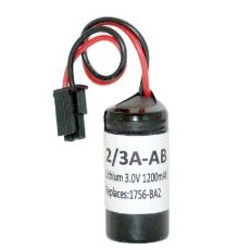 1756-BA2 Replacement Lithium Metal Battery Assembly, 3V for Allen-Bradley ControlLogix