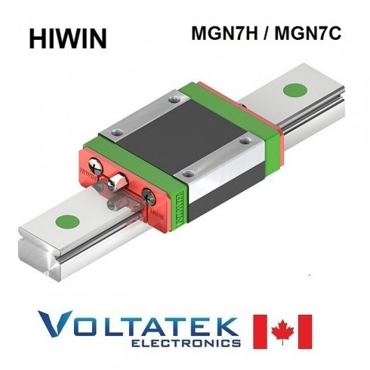 HIWIN MGN7H or MGN7C Bearing Block for 7mm Linear Guide Rail