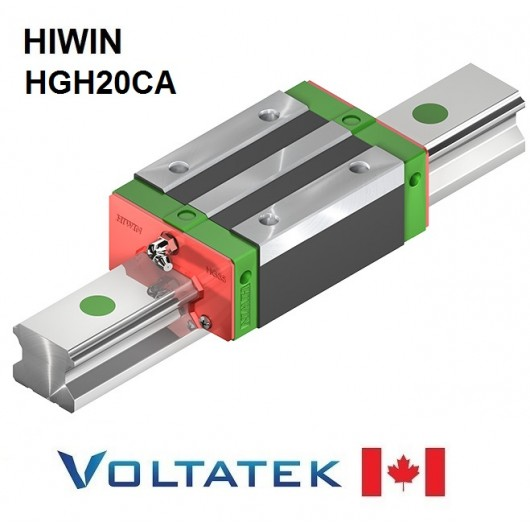 HIWIN HGH20CA Sliding Block for 20mm Linear Guide Rail (HGR20) for CNC