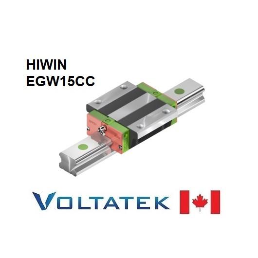 HIWIN EGW15CC Sliding Block for 15mm Linear Guide Rail (EGR15) for CNC