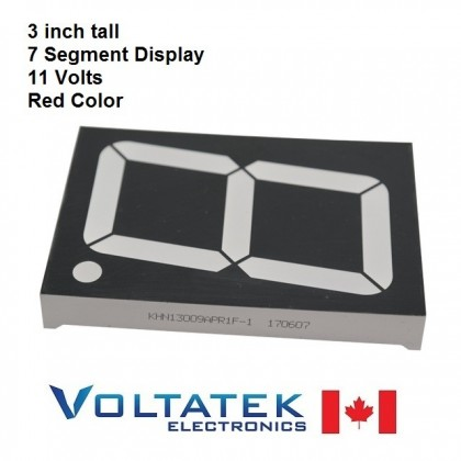 "Big 7 segment red LED display 3"" 11V"