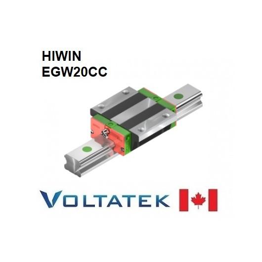 HIWIN EGW20CC Sliding Block for 20mm Linear Guide Rail (EGR20) for CNC