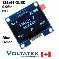 128x64 Blue OLED LCD Display Module 0.96 inch I2C Serial IIC