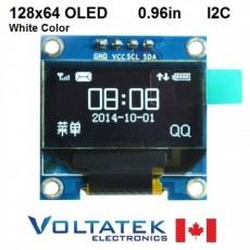 128x64 White OLED LCD Display Module 0.96 inch I2C Serial IIC