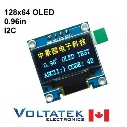 128x64 OLED LCD Display Module 0.96 inch