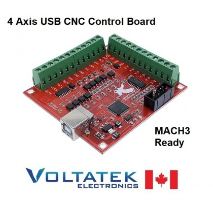 CNC 4 Axis USB Controller Board for Router Engraver Bitsensor BSMCEO4U-PP