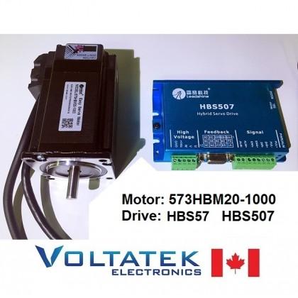Nema 23 Servo Motor and Drive 573HBM20-1000 HBS57 Closed-Loop