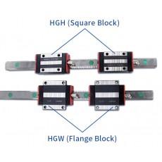 HGH15CA or HGW15CC 15mm 2x Linear Blocks and 1x HGR15R Rail Kit