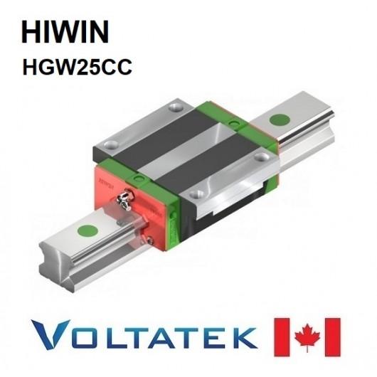 HIWIN HGW25CC Sliding Block for 25mm Linear Guide Rail (HGR25) for CNC