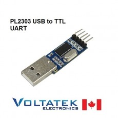 PL2303HX USB to TTL serial adapter RS-232 (wires included)