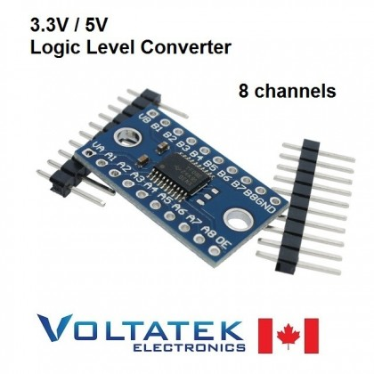 3.3V 5V TXS0108E 8 Channel Logic Level Converter TTL