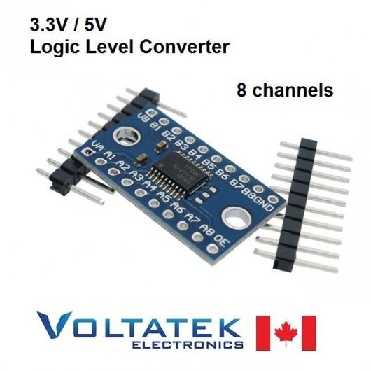 TXS0108E 8 Channel 3.3V 5V Logic Level Converter TTL