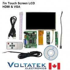 7 Inch TFT LCD Monitor Touch Screen + Driver Board HDMI VGA 2AV