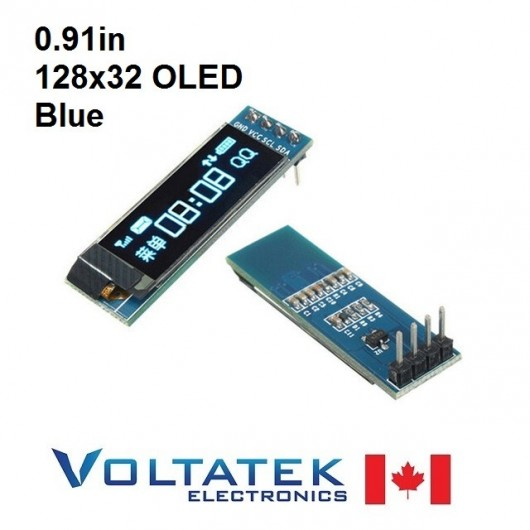 128x32 Blue OLED LCD Display Module 0.91 inch I2C Serial IIC