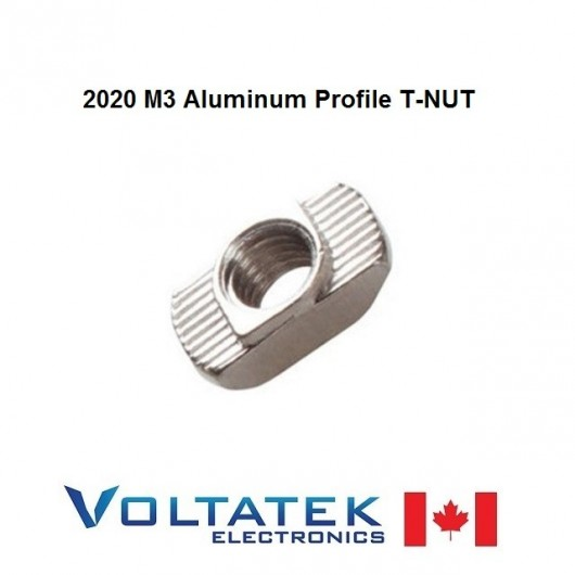 10 pieces M3 Nut T-Nut for 20mm 2020 Extruded Aluminum T-Slot Profile Frame