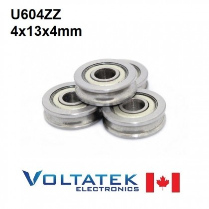 U604ZZ U Groove Pulley Ball Bearing 4x13x4mm 604ZZ