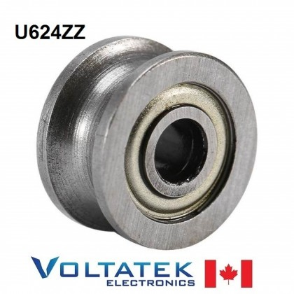 U624ZZ U Groove Pulley Ball Bearing 4x13x7mm 624ZZ