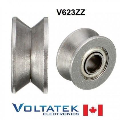 V623ZZ V Groove Pulley Ball Bearing 3x12x4mm 623ZZ