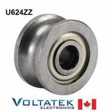 U624ZZ U Groove Pulley Ball Bearing