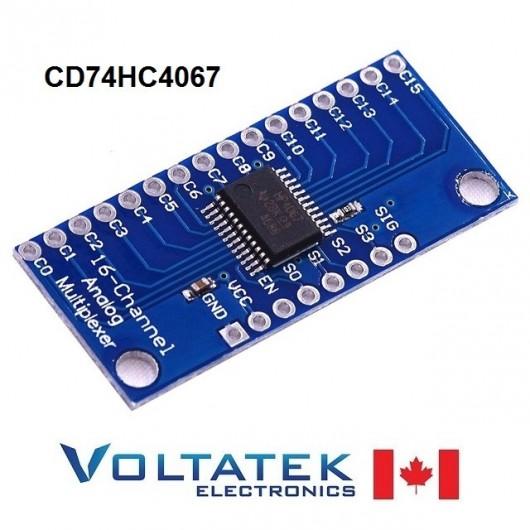 CD74HC4067 16-Channel Analog Digital Multiplexer Board Module