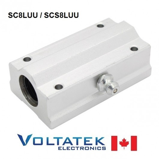 SC8LUU (SCS8LUU) 8mm Long Linear Bearing Block LM8UU for CNC Router 3D Printer