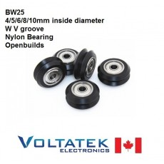 BW25 4mm to 10mm W V Groove Nylon Plastic Ball Bearing Pulley for OpenBuilds 3D Printers