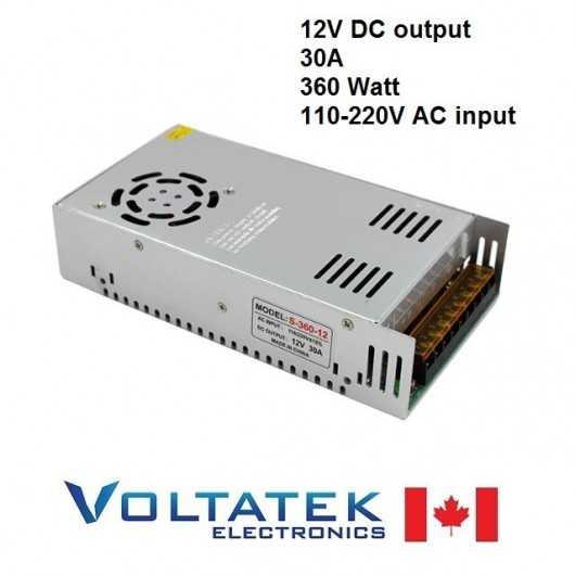 Power Supply DC 12 Volts 30 Amps 360 Watt AC 110V 220V