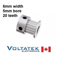 Timing Pulley 6mm width 20 teeth for GT2 Belt for 3D Printer