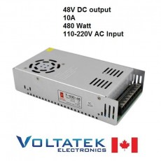 Power Supply DC 48 Volts 10 Amps 480 Watt AC 110V 220V