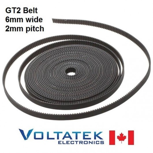 GT2 Timing Belt 6mm width 2mm pitch 1 meter long for 3D Printer or Laser Machine
