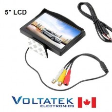 "5"" TFT LCD Color Monitor DVD VCR High resolution 800 x 480"