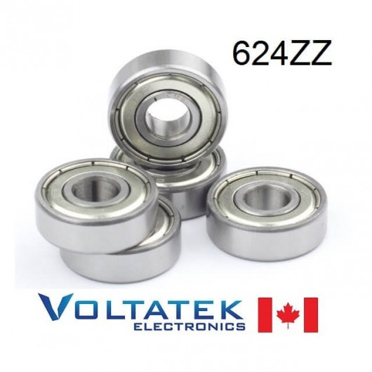 624ZZ 4x13x5mm Miniature Ball Bearing