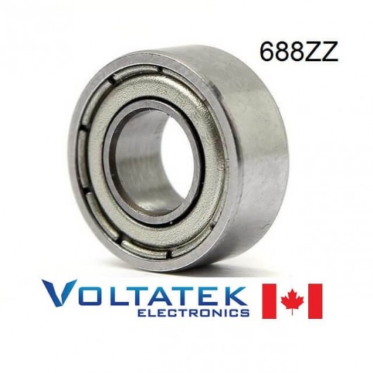 688ZZ 8x16x5mm Miniature Ball Bearing