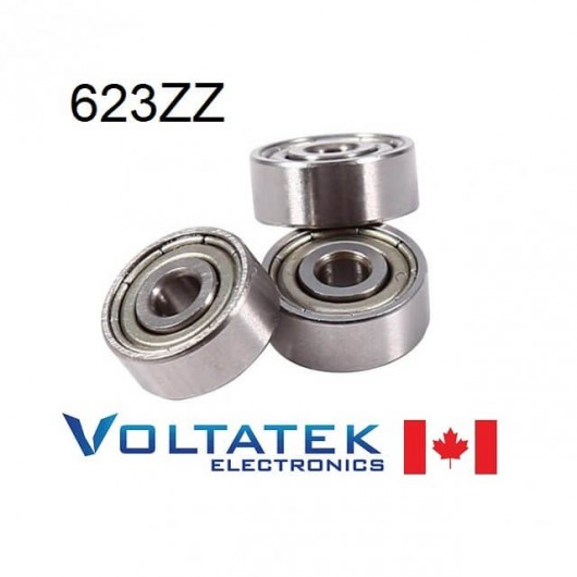 623ZZ 3x10x4mm Miniature Ball Bearing