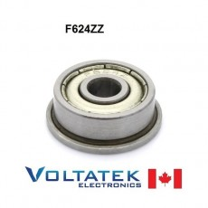 F624ZZ Flange Ball Bearing